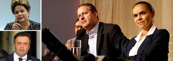 Vice na chapa de Eduardo Campos, ex-senadora Marina Silva diz que PSDB tem cheiro de derrota