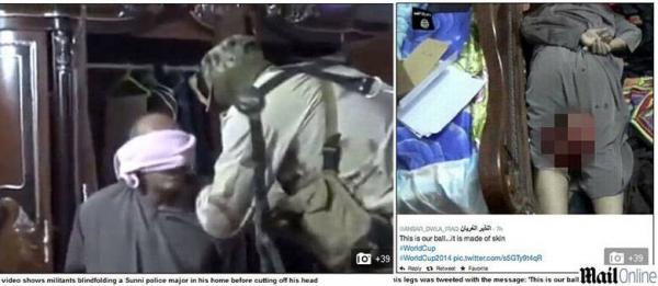Radicais iraquianos divulgam imagem perturbadora de cabeça decapitada com a legenda