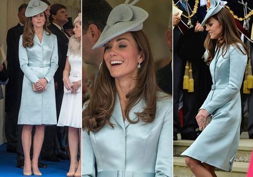 Kate Middleton usa modelito elegante em evento real no Castelo de Windsor
