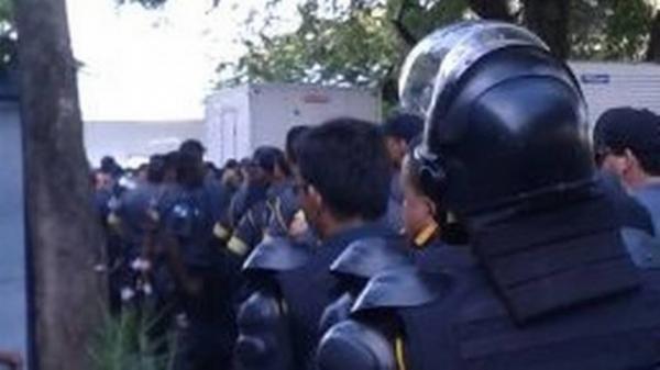 Policiais militares reclamam das condições de trabalho durante a Copa do Mundo