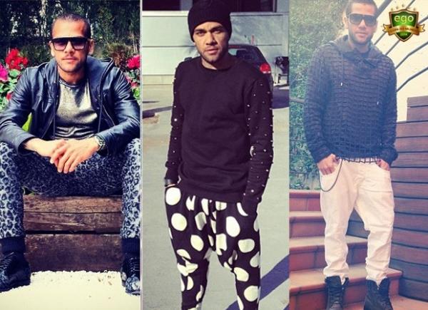 Internautas elegem look preto e branco o mais estiloso de Daniel Alves