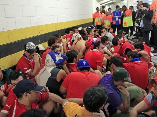Polícia brasileira teve de ser incluída na segurança do jogo da seleção