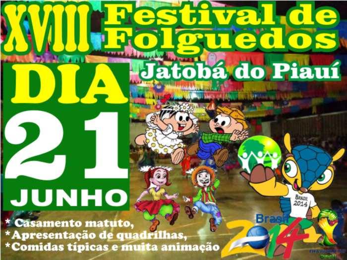Jatobá do Piauí realiza Festival Junino neste sábado. Veja a programação
