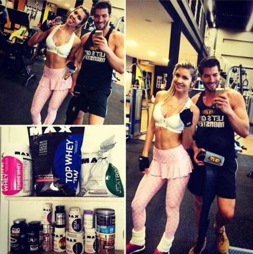 Ex-BBB Tatiele Polyana treina ao lado de Roni Mazon: