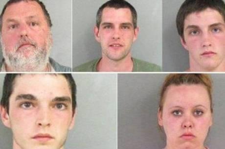 Família baderneira agride policial e vão todos em cana nos EUA