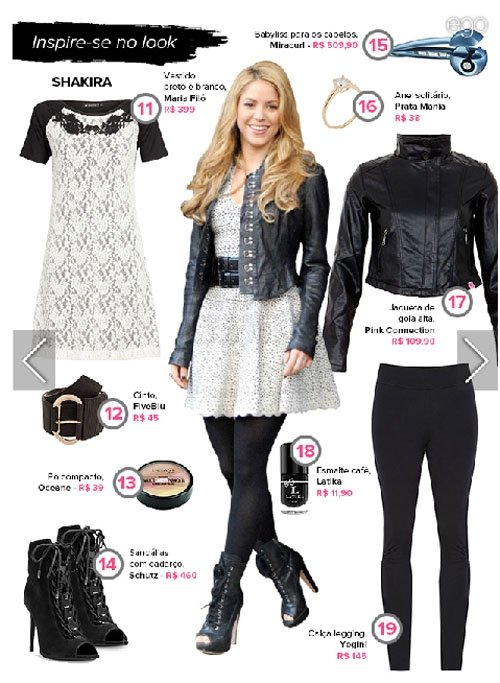 Veja sugestões para copiar looks de Shakira, a mulher de Gerard Piqué