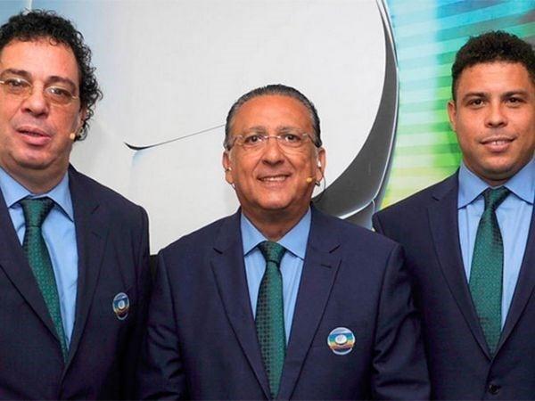 Ops! Galvão Bueno confunde Neymar com Romário durante transmissão do jogo