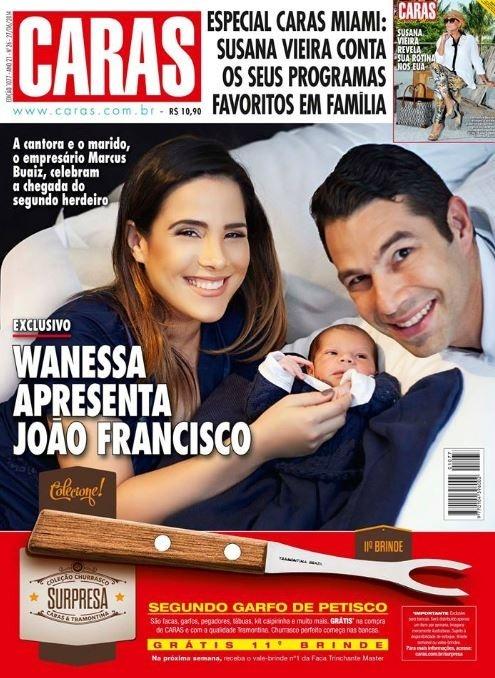 Wanessa apresenta o filho caçula em capa de revista