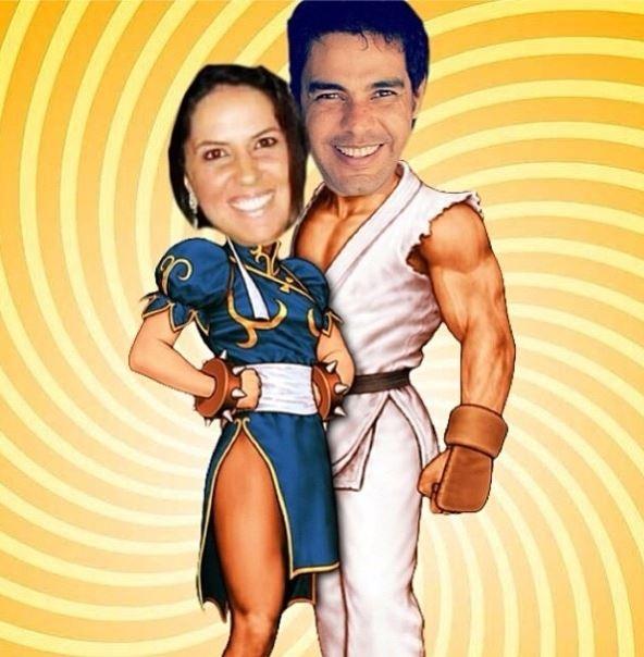 Zezé Di Camargo posta montagem com a namorada, Graciele Lacerda
