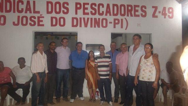 Prefeito Zé Sena participa da Inauguração da Colônia Sindical dos Pescadores em São José do Divino
