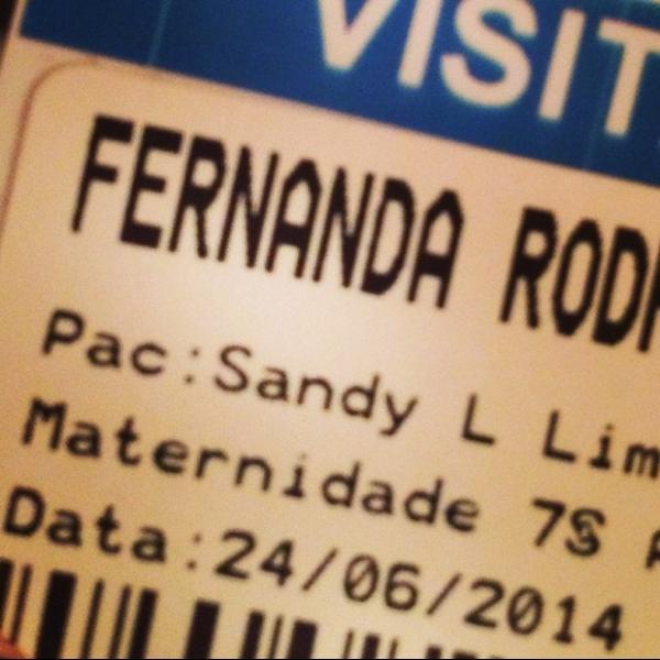 Fernanda Rodrigues visita Sandy em maternidade: