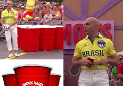 Rapper Pitbull repete look polêmico usado durante a abertura da Copa