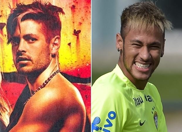 Parecidos? Dado Dolabella compara visual antigo ao atual de Neymar