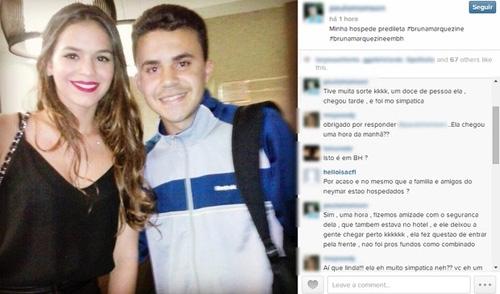 Fã faz foto com Bruna Marquezine e diz que ela está em Belo Horizonte