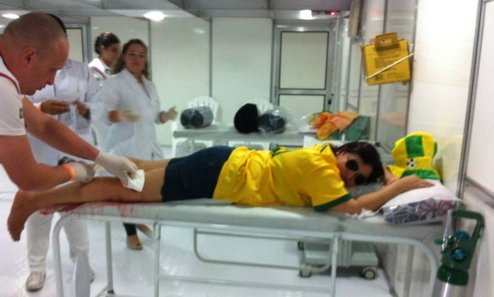 Mulher é ferida com estilete em tentativa de assalto na arena Fifa Fan Fest
