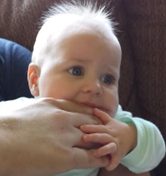 Bebê faz sucesso na internet ao se tornar
