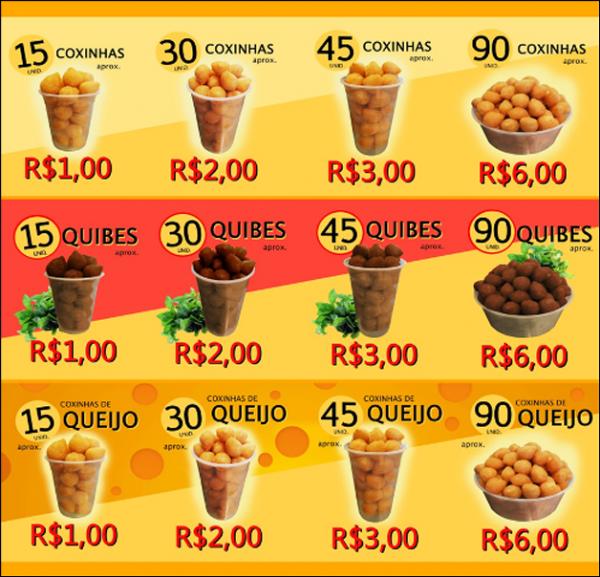 Brasileira ganha R$ 600 mil por m黌 vendendo coxinhas a R$ 1,00
