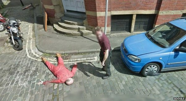 Escoc黌 pede desculpas por simular assassinato no Google Street View