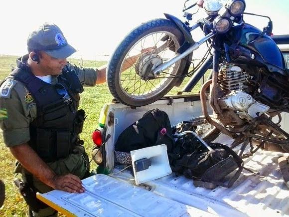 PM estoura desmanche de moto no povoado Macapá em Luís Correia