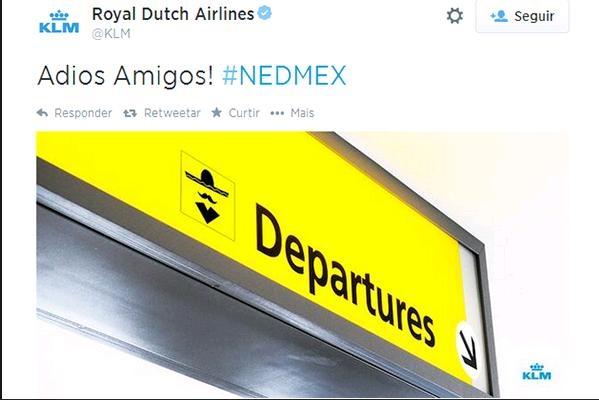 Companhia aérea holandesa pede desculpas por piada com México no Twitter