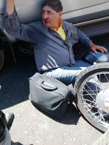 Pastor sofre acidente ao colidir com S10 no centro de Campo Maior