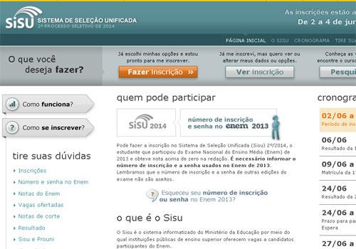 MEC diz que Sisu registrou mais de 1 milhão de candidatos inscritos; prazo encerra hoje às 23h59