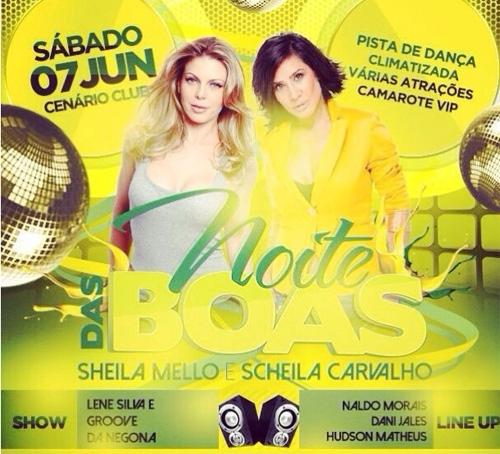 Noite das Boas com Sheila Mello e Sheila Carvalho acontecerá neste sábado; Não perca!