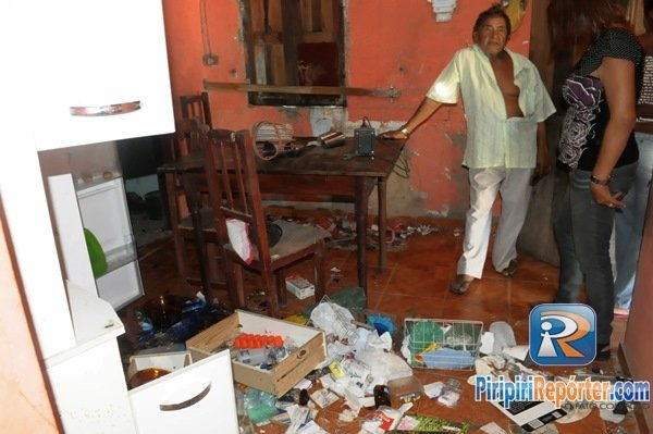 Bandidos invadem casa de idoso e destroem tudo em Piripiri
