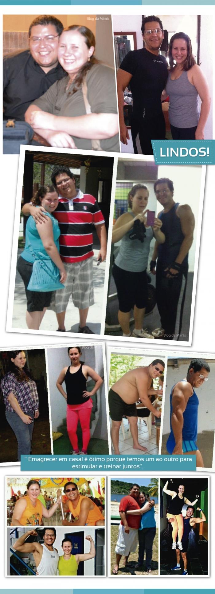 Casal emagrece 75 Kg juntos com dietas e exercícios
