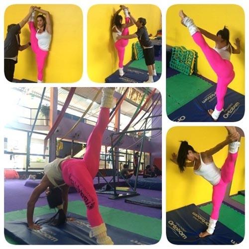 Gracyanne Barbosa mostra elasticidade: