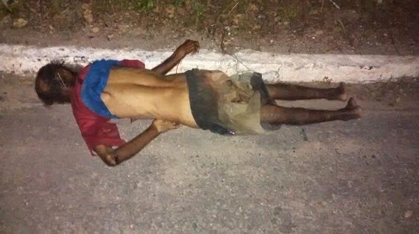 Motorista foge após atropelar e matar andarilho na BR-343