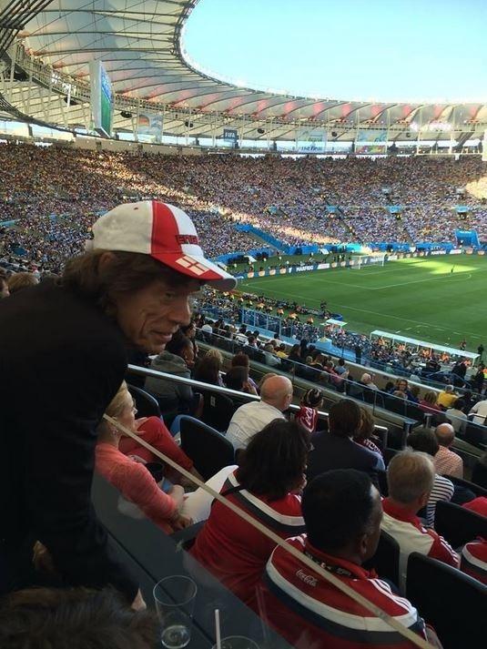 Mick Jagger posta foto no Maracan e argentinos reclamam: