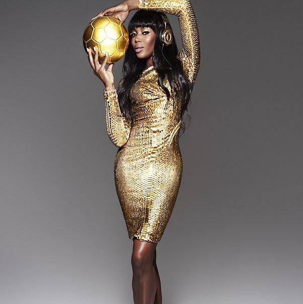 Naomi Campbell estrela campanha de celebração da vitória da Alemanha