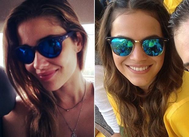 Óculos espelhados são hit entre famosas como Bruna Marquezine