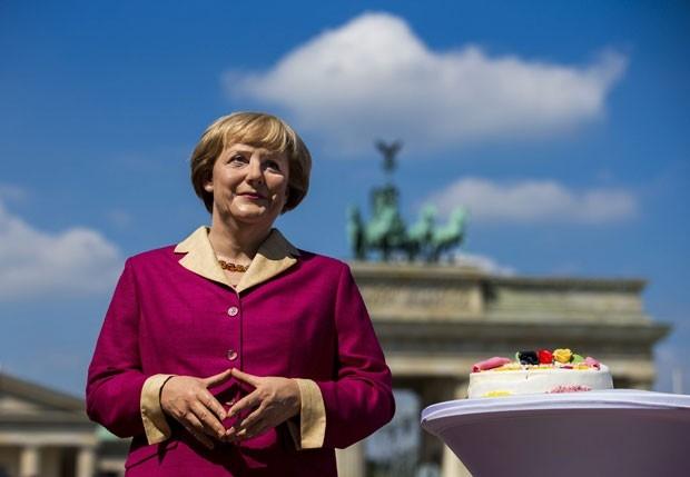 Angela Merkel ganha estátua de cera por seu aniversário de 60 anos