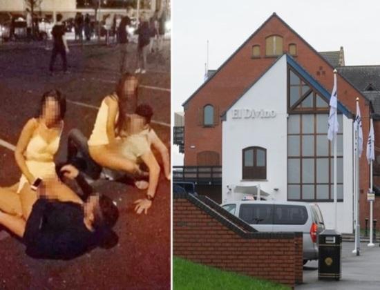Imagem chocante mostra dois casais em ato sexual em público após saíram de uma casa noturna