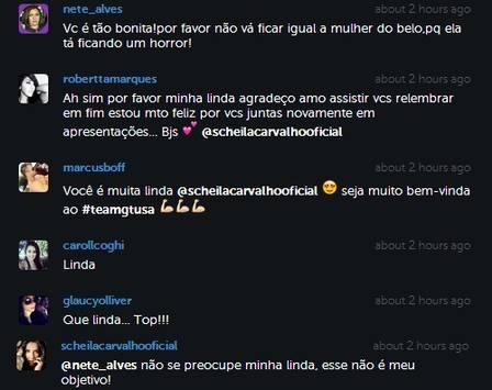 Scheila Carvalho posta foto com a barriga sarada e diz que não vai ficar igual Garcy Barborsa