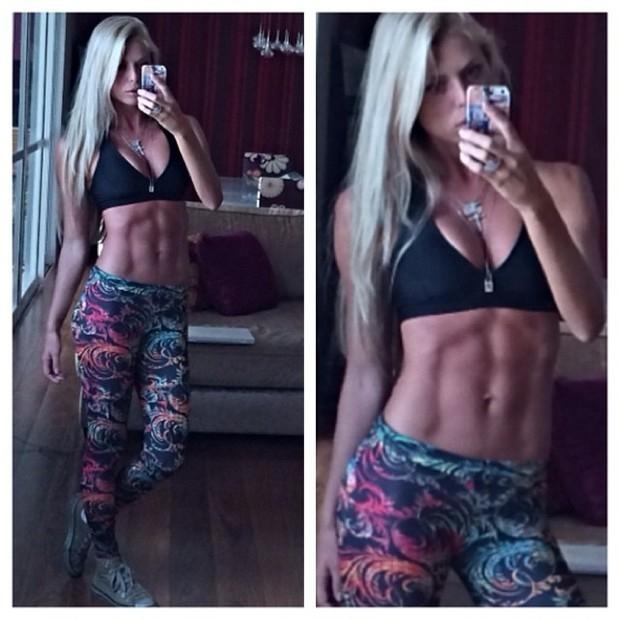 Caroline Bittencourt perde 7kg de gordura e desfila um