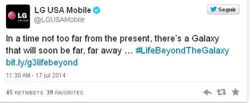 LG provoca Samsung para promover o smartphone G3
