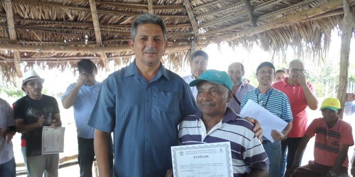A prefeitura municipal de São Gonçalo do Piauí, em convênio com a EMATER-PI, realiza entrega de certificados de conclusão de curso de HORTA ORGÂNICA