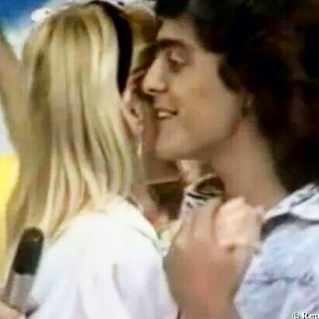 Xuxa relembra em foto antiga momento em que dança com Junno