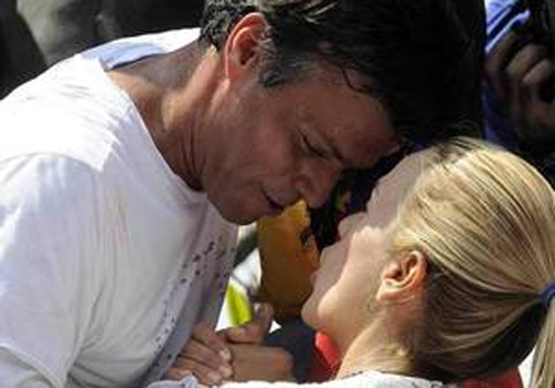 Esposa de Leopoldo López pede nos EUA apoio internacional para libertá-lo