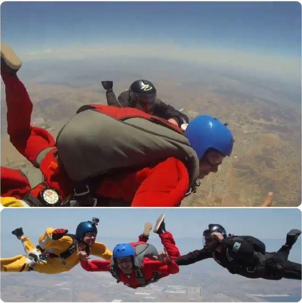 Zac Efron pratica paraquedismo em programa de TV