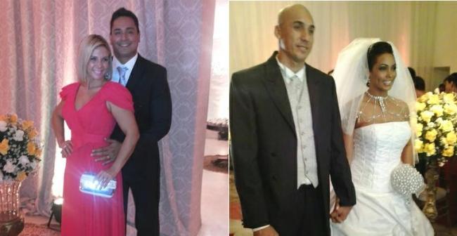 Carla Perez é madrinha de casamento de ex-dançarina de axé Rosiane Pinheiro
