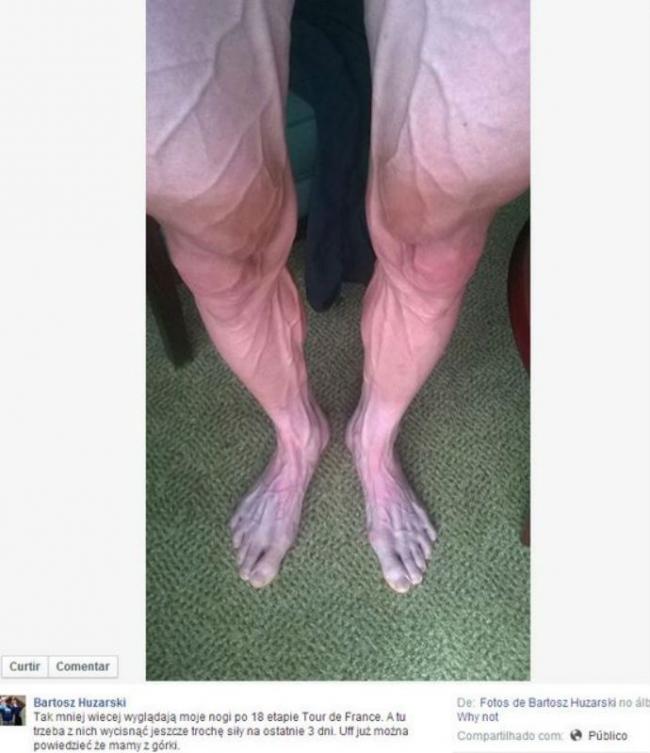 Ciclista posta foto com veias saltadas e causa polêmica nas redes sociais