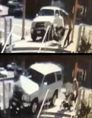 Mãe age rápido e salva bebê de carro desgovernado após batida