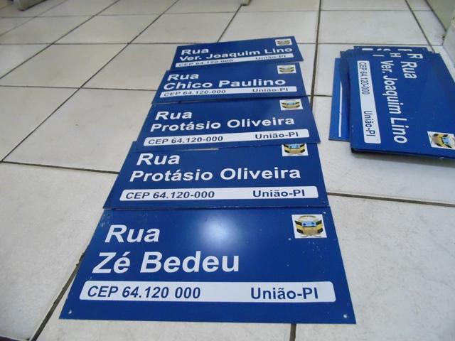 Gustavo Medeiros está regularizando endereços da cidade de União