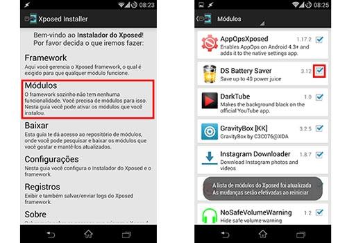Aprenda a aumentar a duração da bateria do Android usando Xposed