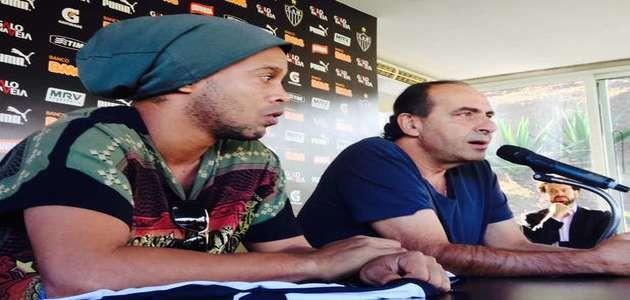 Atleta Ronaldinho sai tranquilo do Atlético-MG e evita nova saia-justa