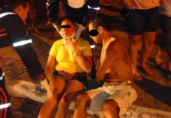 Casal sofre acidente após jogo da seleção no litoral do Piauí